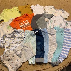 Baby Clothing Bundle 0-3M, 3M & 3-6M Boy Neutral